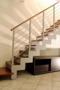 Лестница из стального листа